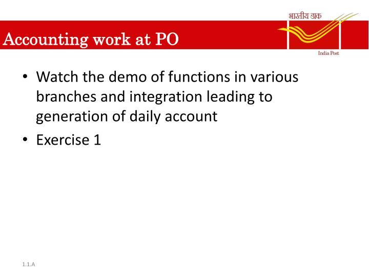Accounting work at PO