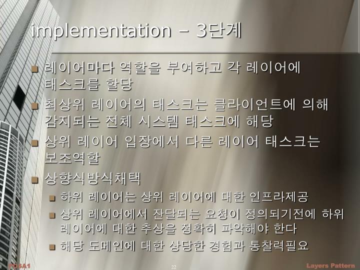 implementation – 3
