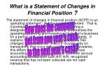 what is a statement of changes in financial position