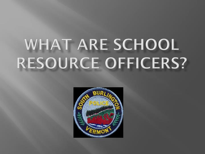 what are school resource officers n.
