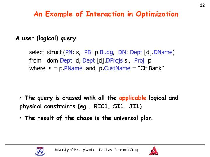 An Example of Interaction in Optimization