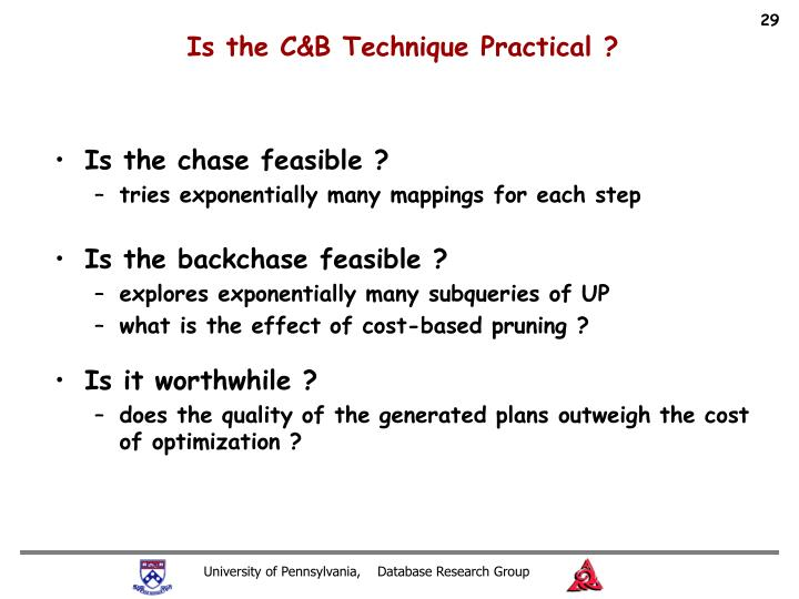 Is the C&B Technique Practical ?