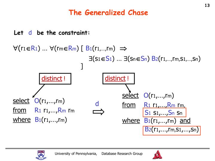 The Generalized Chase
