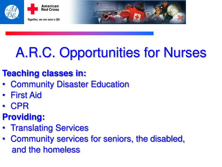 A.R.C. Opportunities for Nurses