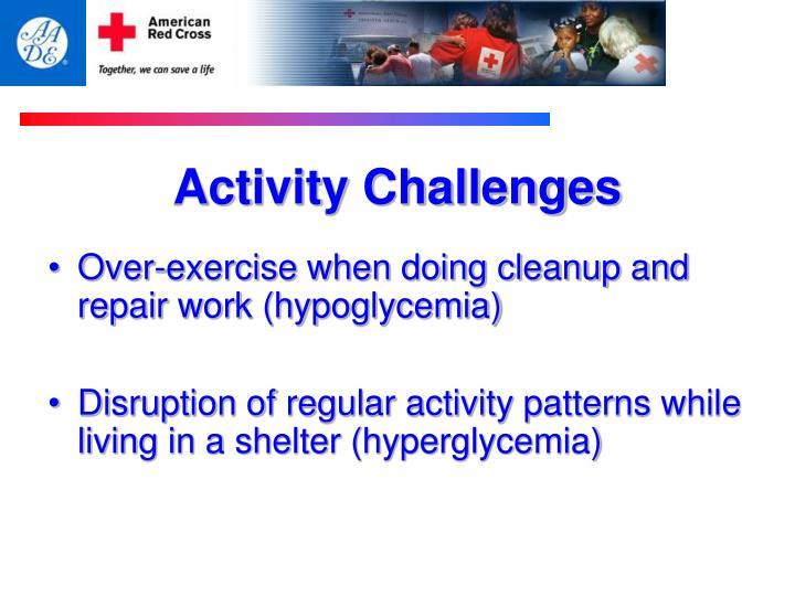 Activity Challenges