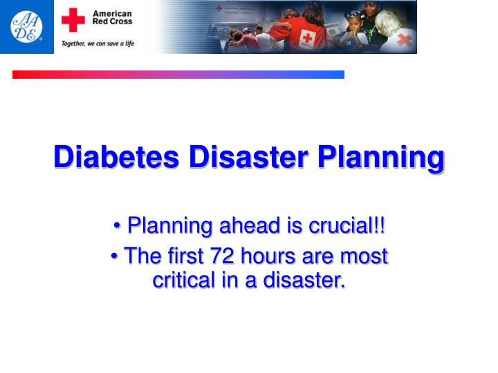Diabetes Disaster Planning