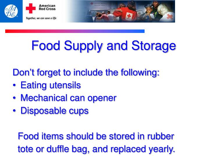 Food Supply and Storage