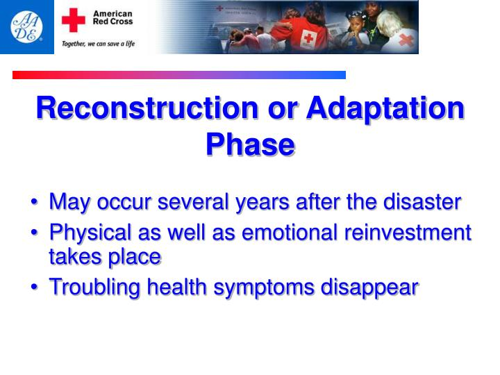 Reconstruction or Adaptation Phase