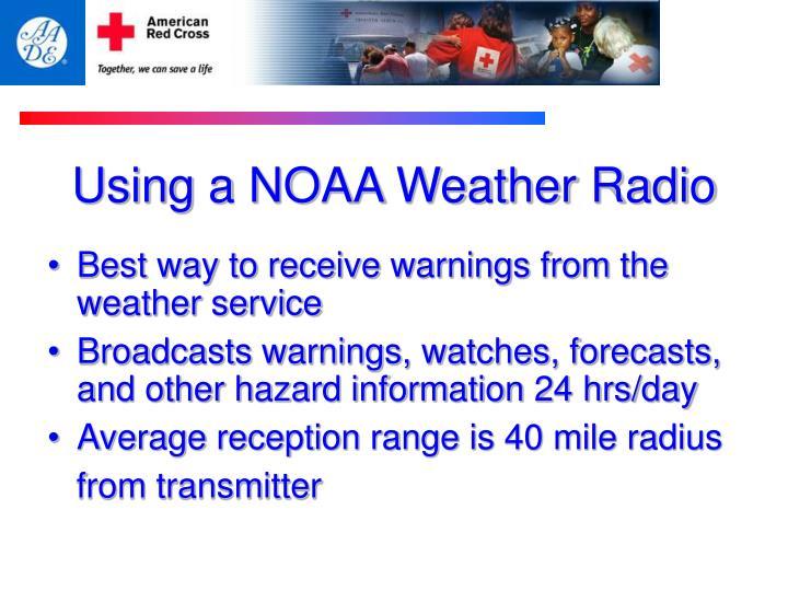 Using a NOAA Weather Radio