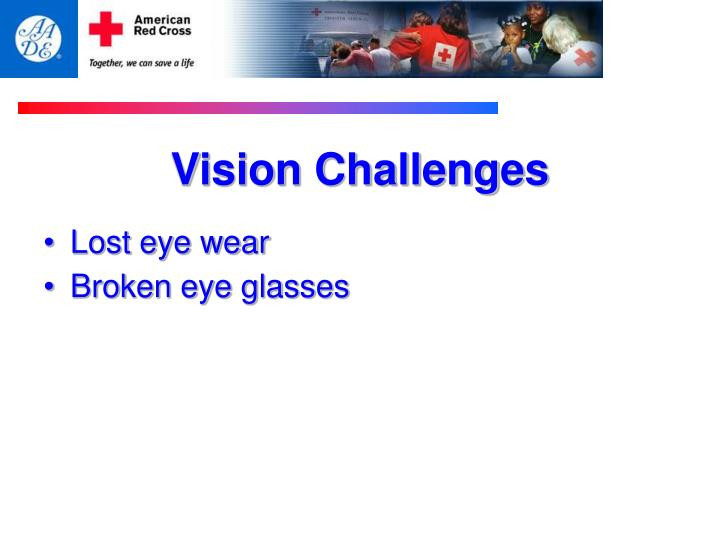 Vision Challenges