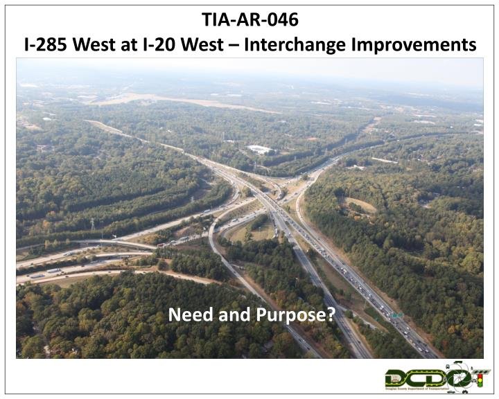 tia ar 046 i 285 west at i 20 west interchange improvements n.