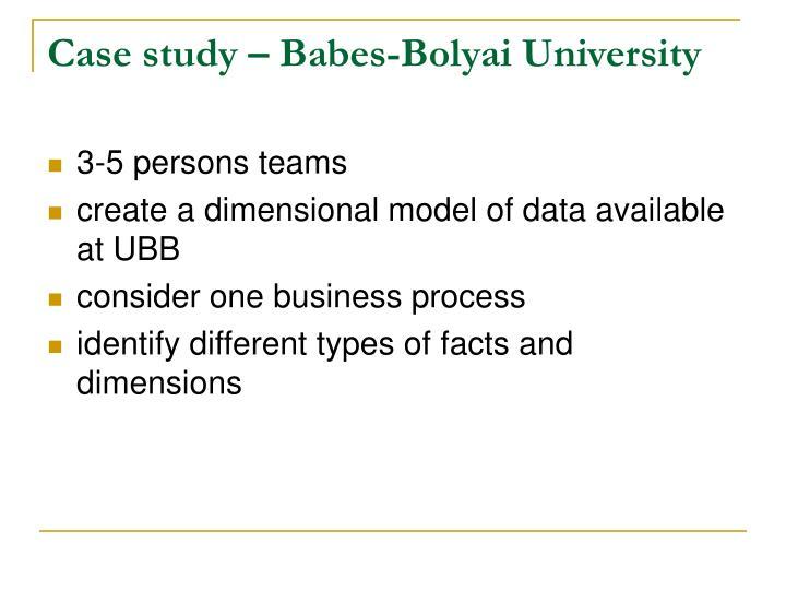 Case study – Babes-Bolyai University