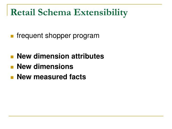 Retail Schema Extensibility