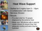 heat wave support