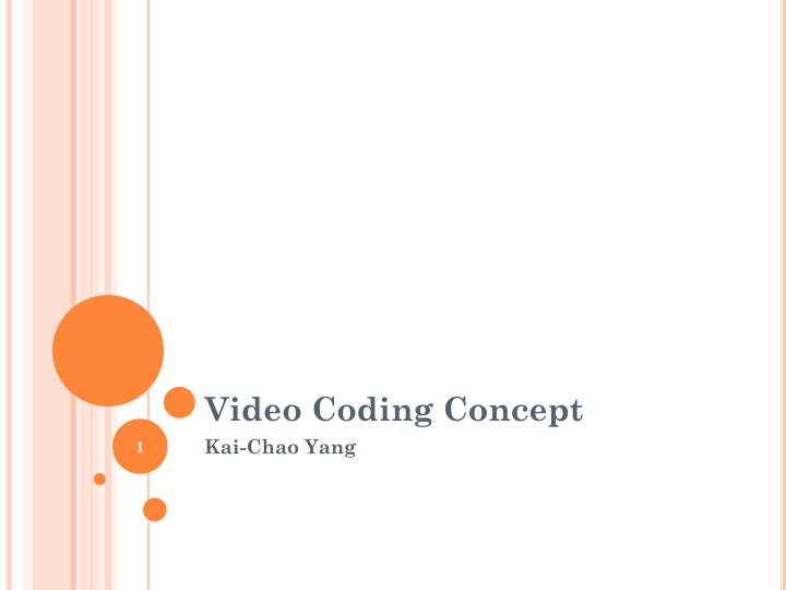 video coding concept n.