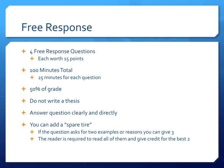 Free Response