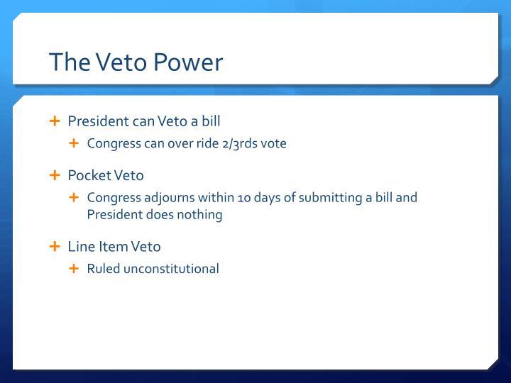 The Veto Power