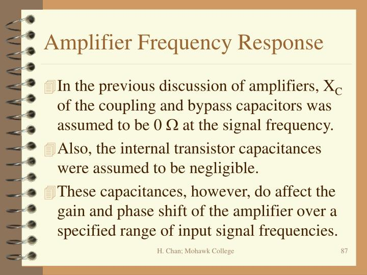 Amplifier Frequency Response