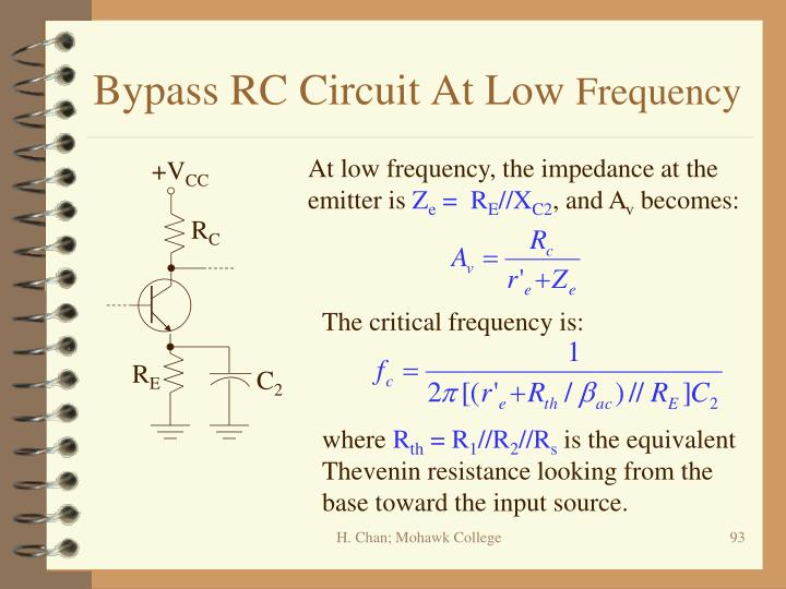 Bypass RC Circuit