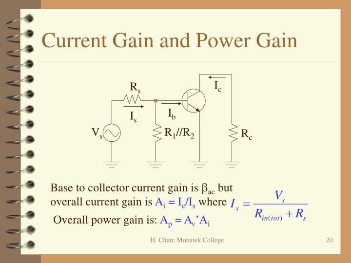 Current Gain and Power Gain