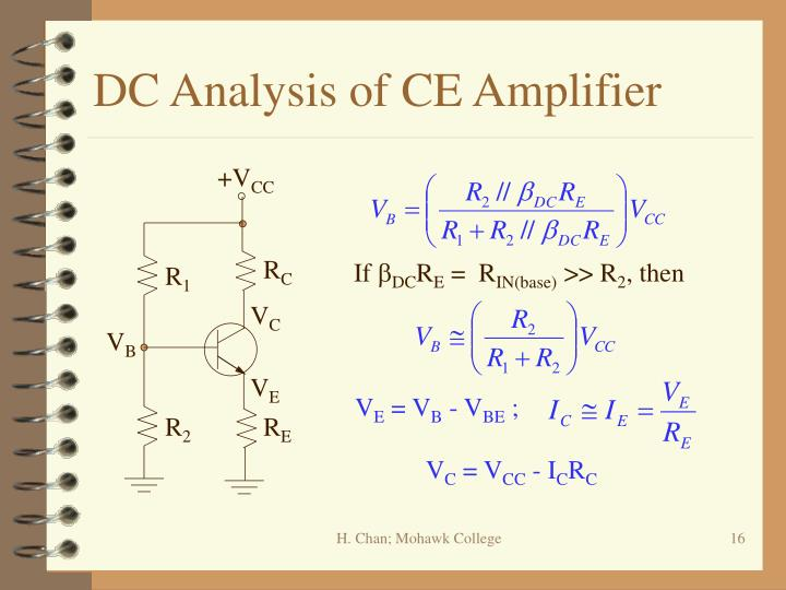 DC Analysis of CE Amplifier