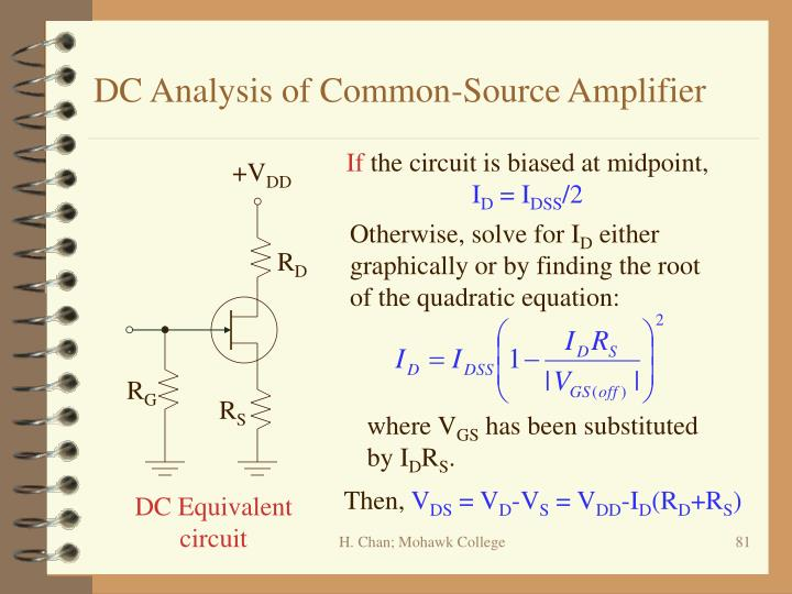 DC Analysis of Common-Source Amplifier