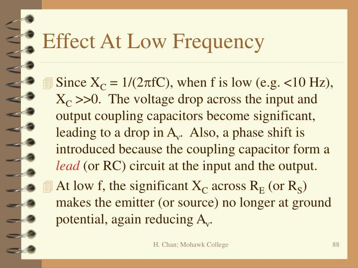 Effect At Low Frequency