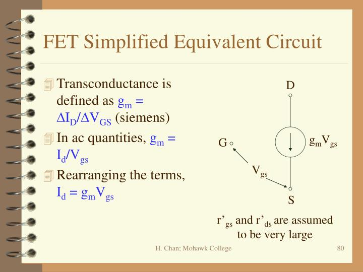 FET Simplified Equivalent Circuit