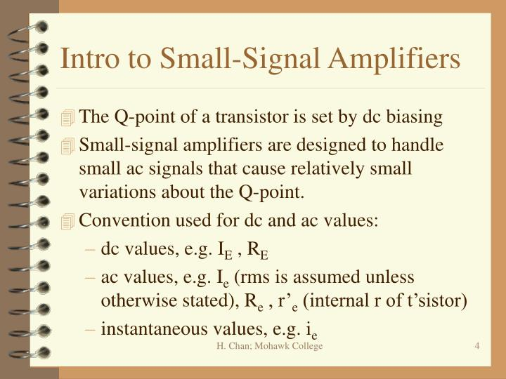 Intro to Small-Signal Amplifiers