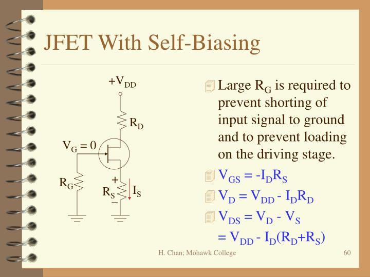JFET With Self-Biasing