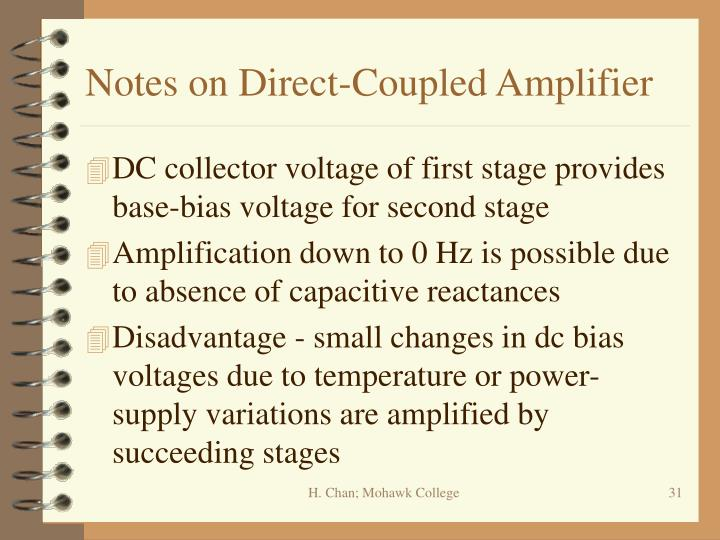 Notes on Direct-Coupled Amplifier