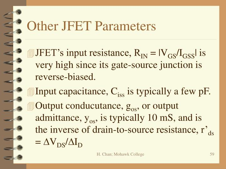 Other JFET Parameters