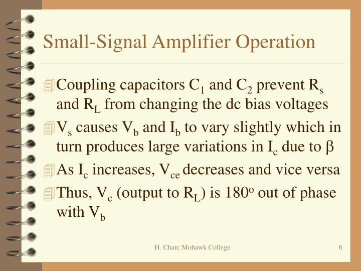 Small-Signal Amplifier Operation