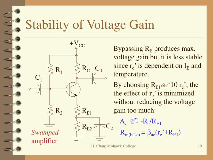 Stability of Voltage Gain