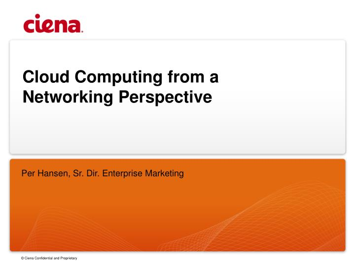 cloud computing from a networking perspective n.