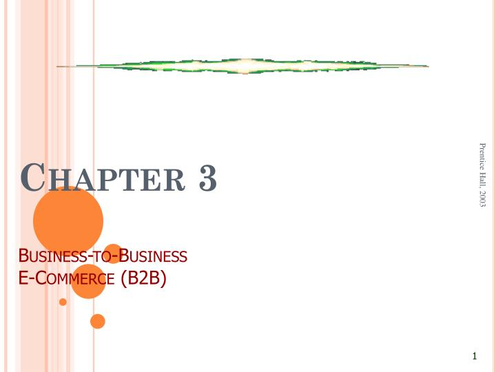 chapter 3 business to business e commerce b2b n.