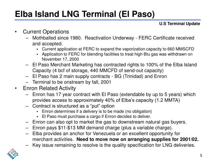 Elba Island LNG Terminal (El Paso)