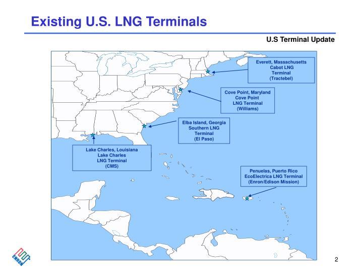 Existing U.S. LNG Terminals