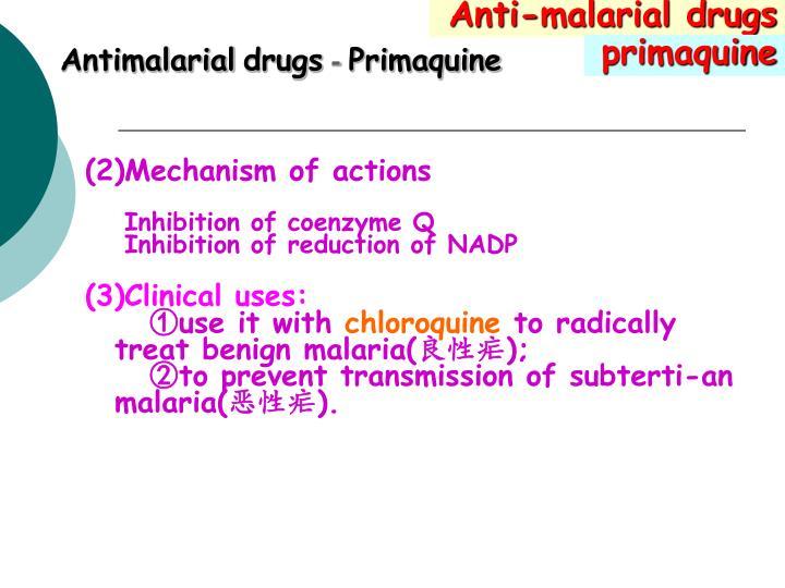 Anti-malarial drugs
