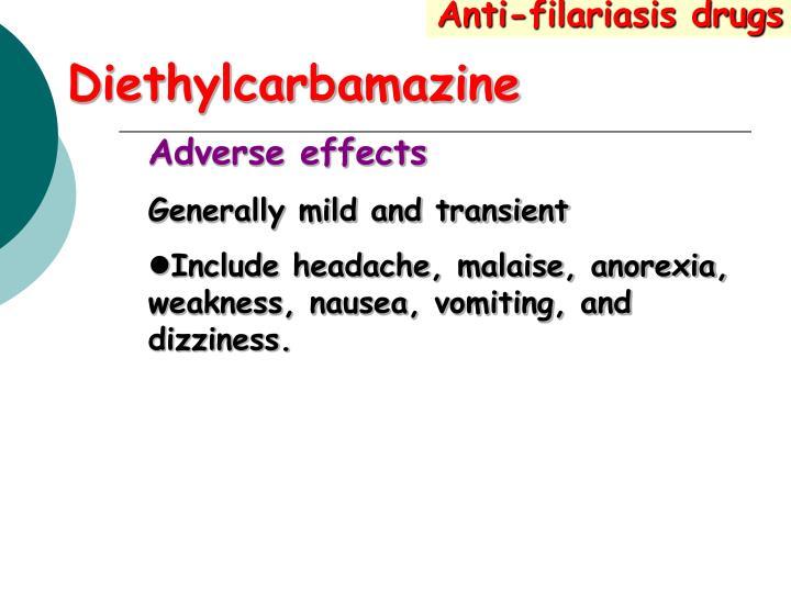 Anti-filariasis drugs