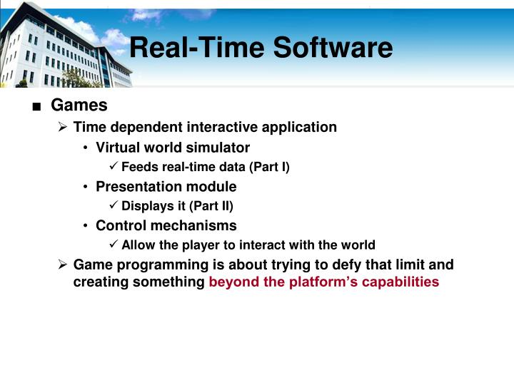 Real time software1