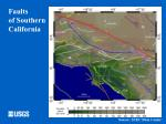 faults of southern california