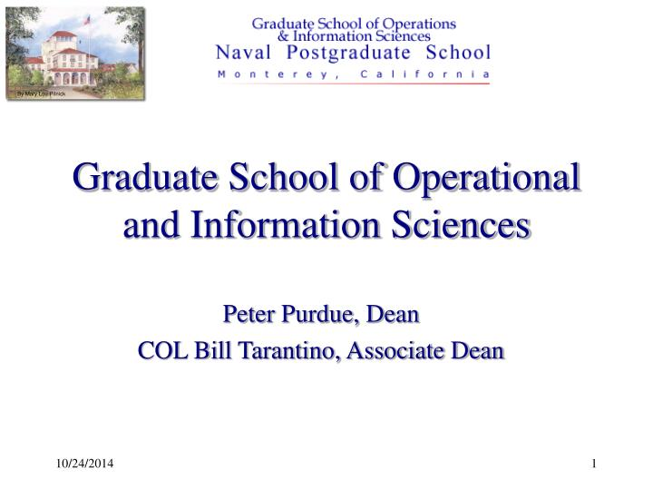 graduate school of operational and information sciences n.