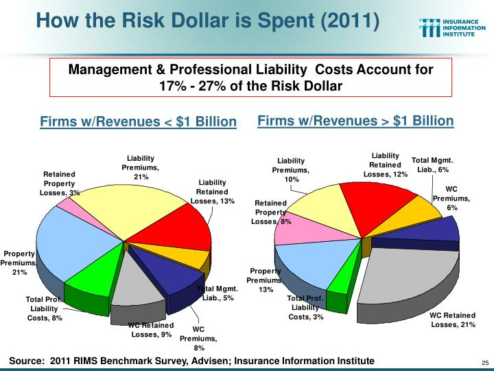 How the Risk Dollar is Spent (2011)