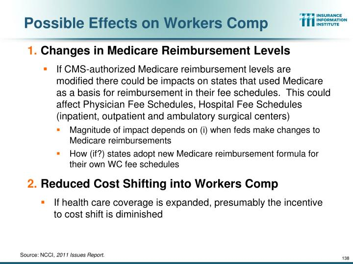 Possible Effects on Workers Comp
