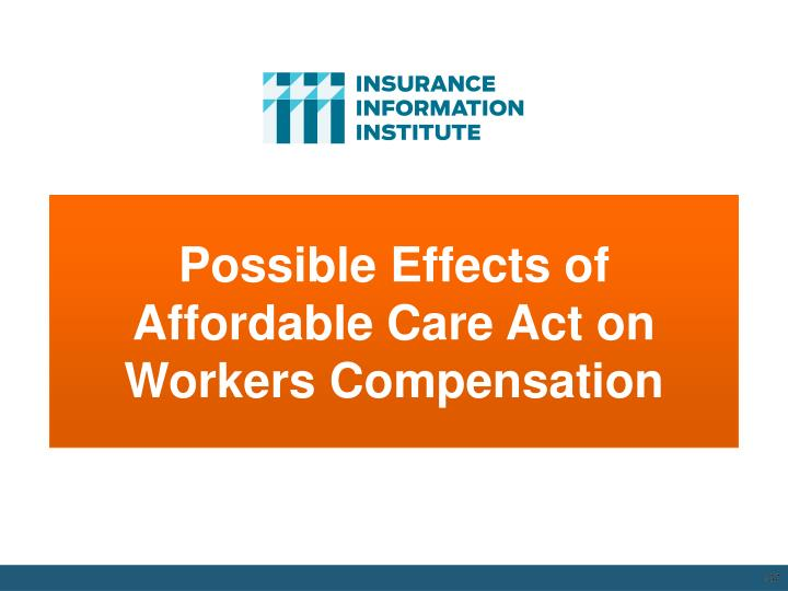 Possible Effects of Affordable Care Act on