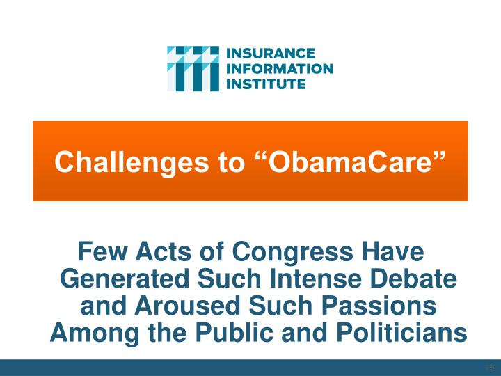 """Challenges to """"ObamaCare"""""""
