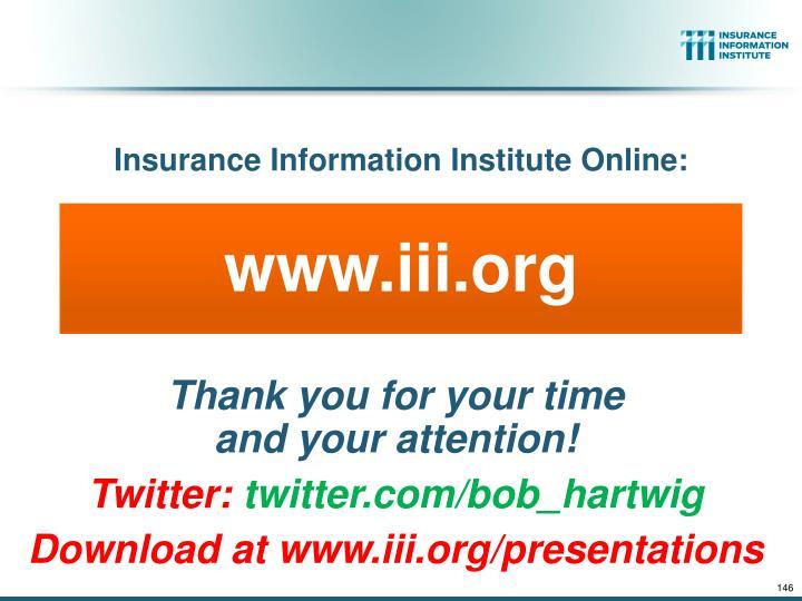Insurance Information Institute Online: