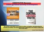 constitutive discourse culture in political economy of development