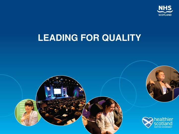 leading for quality n.